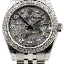 Rolex Datejust 178240 Ladies 31mm Midsize Meteorite Diamond...
