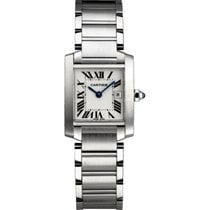 Cartier Tank Francaise Mid Size Stainless Steel W51011Q3