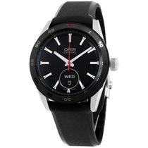 Oris Artix Black Dial Silicone Strap Men's Watch 735766244...
