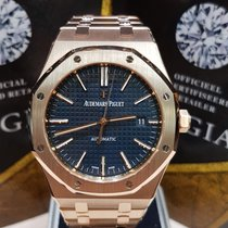Audemars Piguet Royal Oak Selfwinding blue dial pink gold
