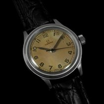 オメガ (Omega) 1947 Ref. 2179/4 Large Mens Watch, SS - Military...