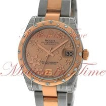 "Rolex Datejust 31mm, Pink Champagne ""Floral Motif""..."