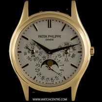 Patek Philippe 18k Yellow Gold Perpetual Calendar Ultra Thin...