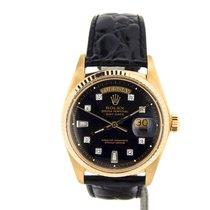 Rolex 18k Gold Day-date President Black Diamond 1803