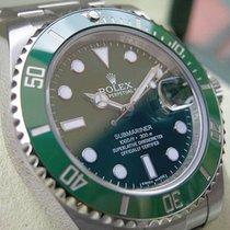 Rolex Submariner 116610 Hulk Mens Steel Oyster Green Ceramic...