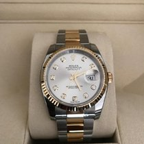 Rolex Datejust 36 Stahlfarbenes Diamantzifferblatt