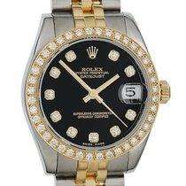 Rolex Datejust Medium Stahl Gelbgold Jubilé Armband Diamond...