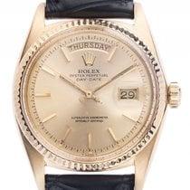 Rolex Day Date 18kt Gelbgold Automatik Armband Leder 36mm...