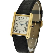 Cartier W5200004 Tank Solo Quartz - Unisex - Yellow Gold on...