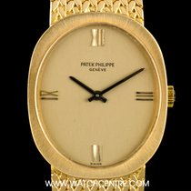 Patek Philippe 18k Yellow Gold Champagne Dial Ellipse Vintage...