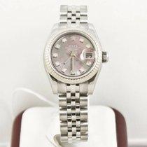 Rolex Lady-Datejust 179174 Dark MOP Diamond Dial Box & Papers