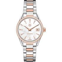 TAG Heuer Carrera 32mm Date Quartz Ladies Watch Ref WAR1353.BD...
