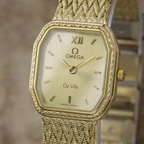 Omega Deville Swiss Made Ladies 1980s Gold Plated Quartz Dress...