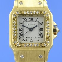 Cartier Santos Lady Automatik Gelbgold Diamanten