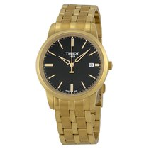 Tissot Classic Dream Black Dial Gold PVD Watch
