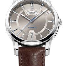 Maurice Lacroix Pontos Day/Date Brown Dial Blue Second, Black...