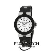 Bulgari Diagono 40 mm White Dial Rubber Automatic – DG40C6SVD  T