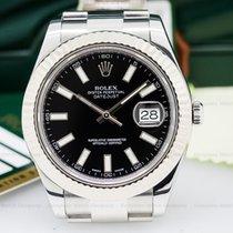 Rolex 116334 Datejust II White Stick Black Dial SS (25237)