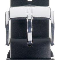 Hirsch Uhrenarmband Kautschuk Pure L schwarz 40538850-2-22 22mm
