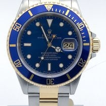 Rolex Submariner Stainless Steel And Gold Blue Dial 16613 W...