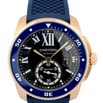 カルティエ (Cartier) Calibre Diver Blue Rubber Band Automatic...