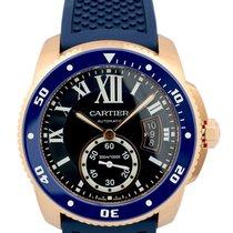 Cartier Calibre Diver Blue Rubber Band Automatic Men's...