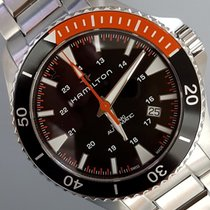 Hamilton KHAKI NAVY SCUBA AUTO  Black-Orange Steel Bracelet 40mm