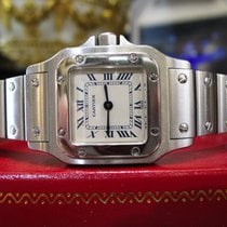 Cartier Santos Steel Quartz Roman Numeral Watch