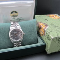 Rolex DATEJUST 1601 SS ORIGINAL Glossy Grey Dial with Box and...