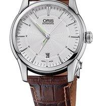 Oris Artelier Date Steel Case Brown Crocodile Leather