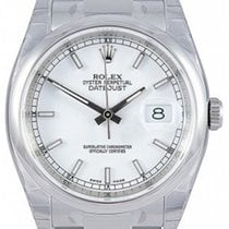 Rolex Datejust 36 116200-WHTSO White Index Stainless Steel...