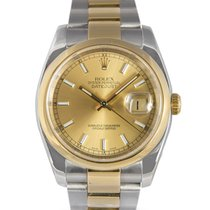 Rolex Datejust Steel & Gold with champagne dial, Ref: 116203