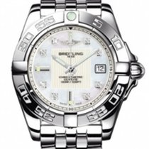Breitling A71356L2-A708-367A Galactic 32 Ladies Quartz in...