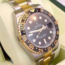 Rolex Gmt-master II 116713 Ln Oyster 18k Y Gold /ss Ceramic...
