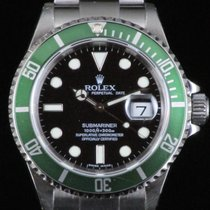 Rolex Submariner 16610 LV Green Bezel  Steel Automatic