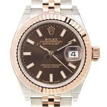 勞力士 (Rolex) Lady Datejust 18k Rose Gold And Steel Brown...