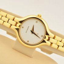 Carl F. Bucherer Women's  Q 18k Yellow Gold White Diamond...