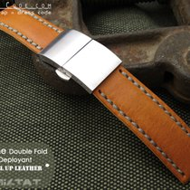 MiLTAT For Rolex 21mm Pull Up Leather Orange Watch Strap