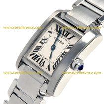 Cartier TANK FRANCAISE  Small Size Lady Quartz W51008Q3