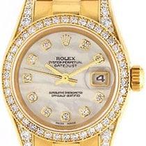 Rolex Ladies Rolex President 18k Gold & Diamond Watch 179158
