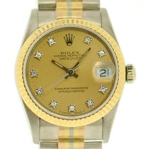 Rolex Datejust Midsize 18k Tridor with Diamond Dial,  With Papers