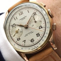 Serviced Chronograph Suisse Watch 18ct pink gold red rose