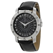 Tissot Heritage Navigator Black Dial Black Leather Men's...