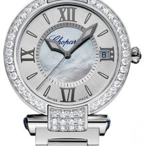 Chopard Imperiale 18K White Gold, Blue Sapphires &...