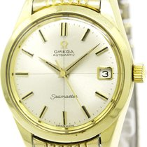 Omega Seamaster Date Cal 565 Rice Bracelet Gold Plated Watch...