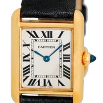 "Cartier ""Classic Louis Tank"" Strapwatch."