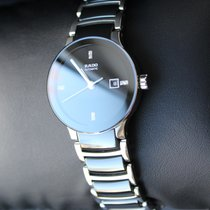 라도 (Rado) Ladies R30942702 Centrix Ceramic Watch