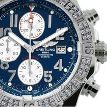 Breitling Super Avenger  Aeromarine A13370  Blue Dial Arabic...