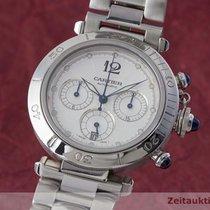 Cartier Pasha Chronograph Stahl Herrenuhr Automatik Ref 2113