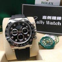 Rolex Cally - 2017 New 116519LN Black Dia Rubber Ceramic Daytona